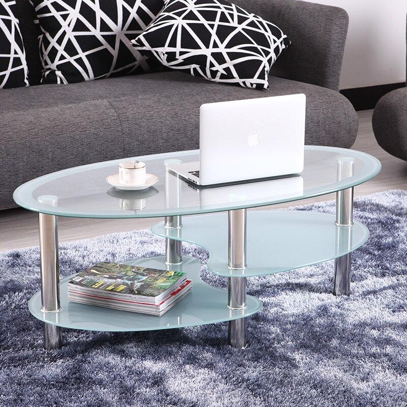 Ikea Modern Minimalist Living Room Sofa Table Glass Oval