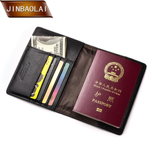 JINBAOLAI New Leather Passport Travel Wallets Card Holder Purses Slim Credit Multi-Card Cover Storage Pack