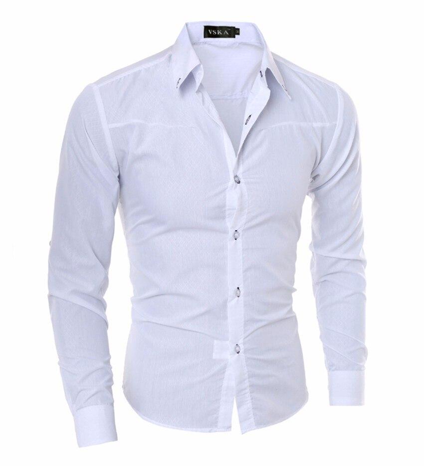 Hot Sell Men Shirt Men's Shirt New Fashion Men Social Business Tuxedo Long Sleeve Casual Dress Shirts Asian Size 5XL