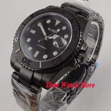 Bliger 40mm pvd automatic wrist watch men sapphire glass waterproof pil
