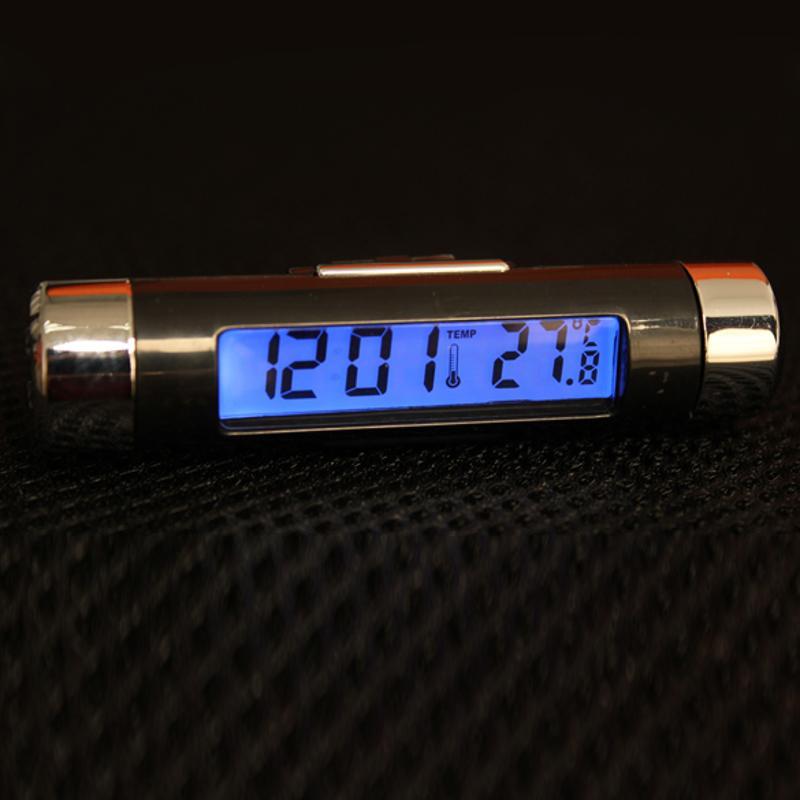 Vehicle Car Vent Clip Blue LED Backlight Digital Display Clock Thermometer U.S.A
