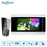 JeaTone 7 Inch Video Door Phone Doorbell Intercom With 600TVL Outdoor Camera IP65 On Door Video
