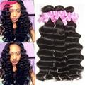 Необработанные виргинских бразильских волос свободные глубокая волна 3 шт./лот бразильские плетение волос пучки бразильский океанская волна дешевые пучки волос