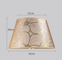 Lamp shade for table Abstract simple style flower pattern Decorative E27 table lamp shade bedroom lamp cover