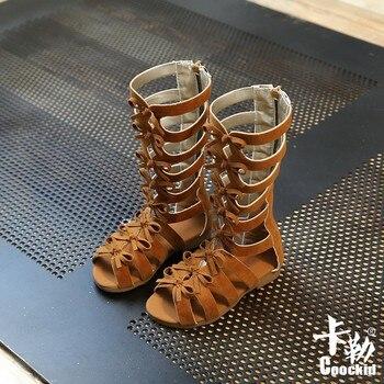 Little Girls Gladiator Sandals Girls Summer Shoes Knee High Boots Baby Princess Shoes Kids Gladiator Sandals Zip Bow Sandals фото
