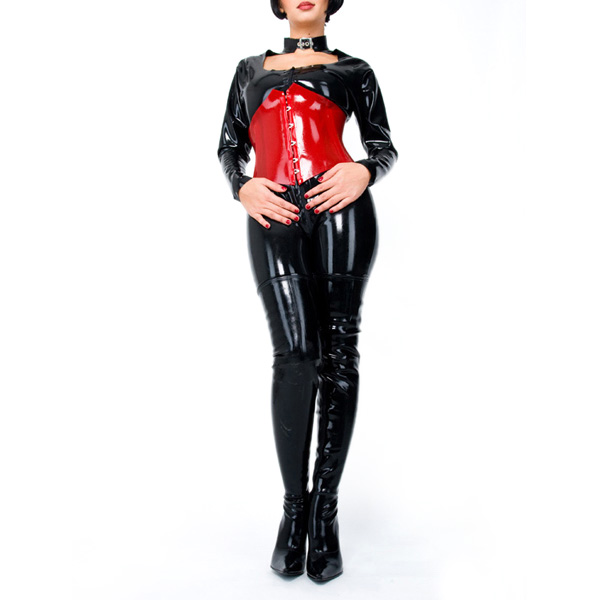 Buy Female Latex Rubber Catsuit Corset Keyhole Bodysuit Front Zipped High Quality Latex Sock Sexy Costume