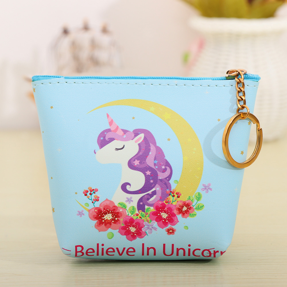 Cartoon Animal Unicorn Coin Purses Holder Cute Girl Kids Women Mini Change Wallets Money Bag Coin Bag Children Zipper Pouch Gift Luggage & Bags Coin Purses & Holders