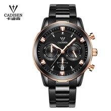 CADISEN оригинальный Для мужчин хронограф кварцевые часы Для мужчин лучший бренд класса люкс Наручные часы Водонепроницаемый классические часы часов часы мужской