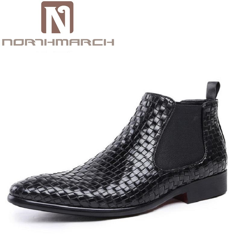 NORTHMARCH Luxury Brand Autumn Winter Men Shoes Boots Retro Lace-Up Black Martin Boots Top Quality Male Leather Shoes Erkek Bot 2017 autumn fashion boots sequins women shoes lady pu leather white boots bling brand martin boots breathable black lace up pink