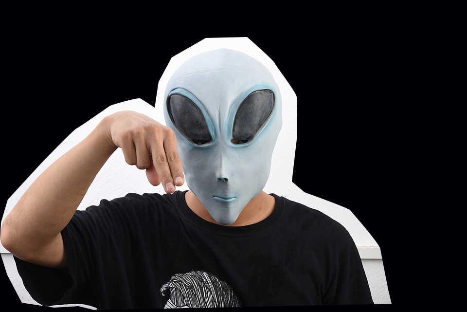 Страшные чужеродные латексные маски Хэллоуин и косплей реквизит нарядное платье дополнительная маска инопланетянина