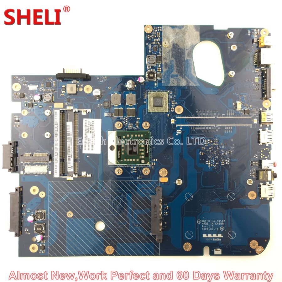 SHELI MBBDU02001 MB.BDU02.001 Laptop Motherboard For Gateway NV73 LJ71 NV7309U KBYF0 LA-5051P Main Board System Board Free CPU nokotion la 5051p mbbdu02001 mb bdu02 001 laptop motherboard for gateway nv73 m880g ddr2 mainboard tested warranty 60 days