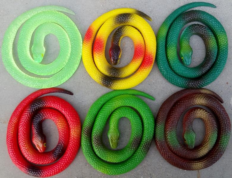 Halloween Party Realistic Soft Rubber Toy Snake Garden Props Joke Prank Gift Novelty Playing Jokes Toys 60cm