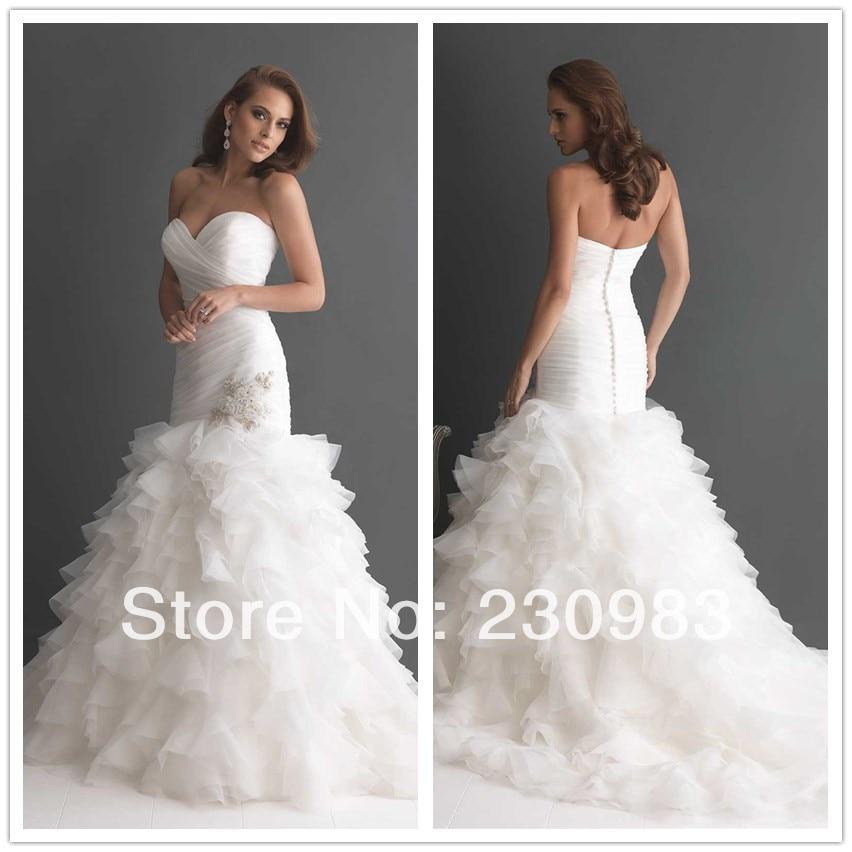 Custom made High Neck Sleeveless A Line Lace/Applique Wedding ...