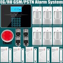 Wireless/wired Do SIM Do Telefone GSM PSTN Home do Assaltante Segurança kit Sistema de Alarme GSM Russo Inglês Voz Prompt De Alarme Sensor
