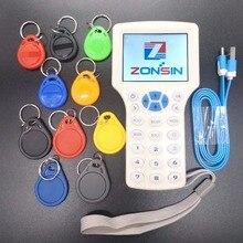 Английский Rfid NFC копировальный считыватель писатель Cloner Копия 10 Частотный программатор+ 5 шт 125 кГц EM4305 Брелоки+ 5 шт 13,56 МГц UID ключ