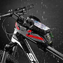 Check Price MTB Road Bicycle Bike Bag Waterproof Cycling Top Front Tube Frame Saddle Bags Case For 5.8/6.0inch Cell Phone ALS88