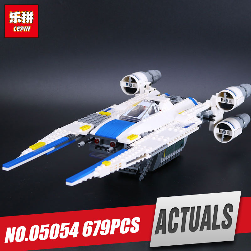 Lepin 05054 679pcs Genuine Star Series U-toy Wing Fighter Set Educational Building Blocks Bricks War Toys 75155 for kids' Gift