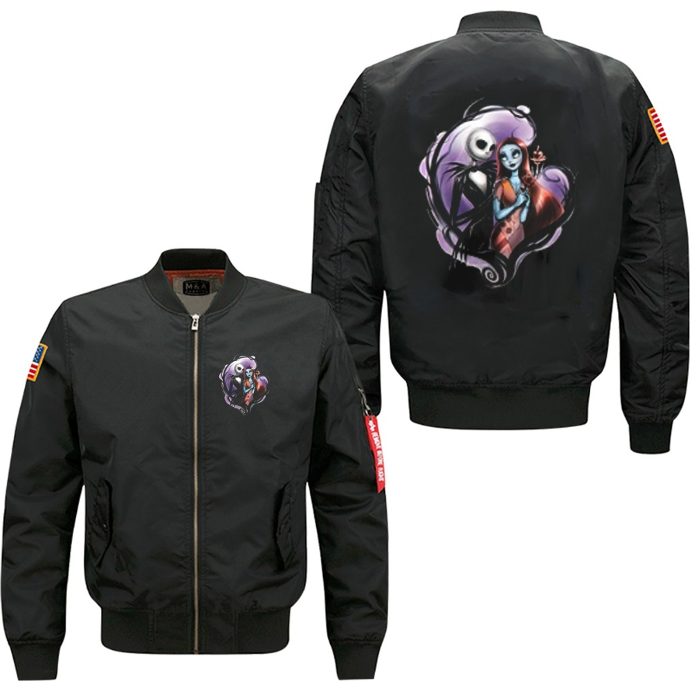 fairy story character spring autumn men's leisure jacket collar code Air Force pilots jacket