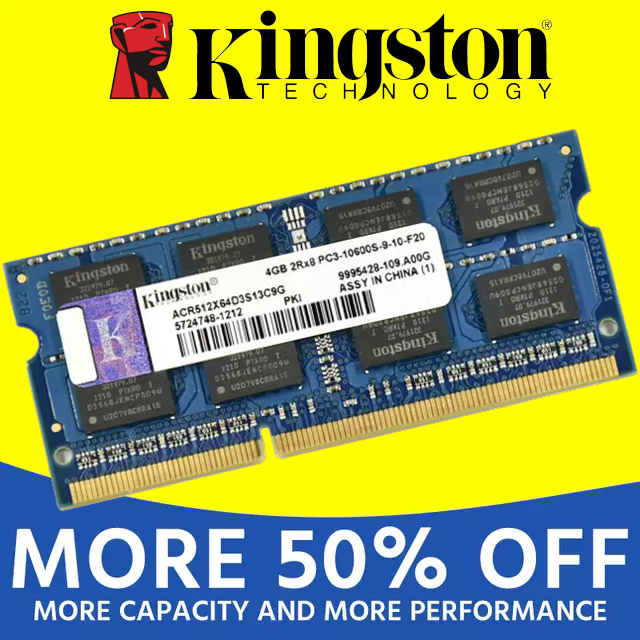 Kingston notebook Laptop RAM Memoria Module DDR2 800 667 MHz PC2 6400S 1GB 2G 2GB 4G 4GB 8GB DDR3 1333 1600 MHz PC3-12800 1