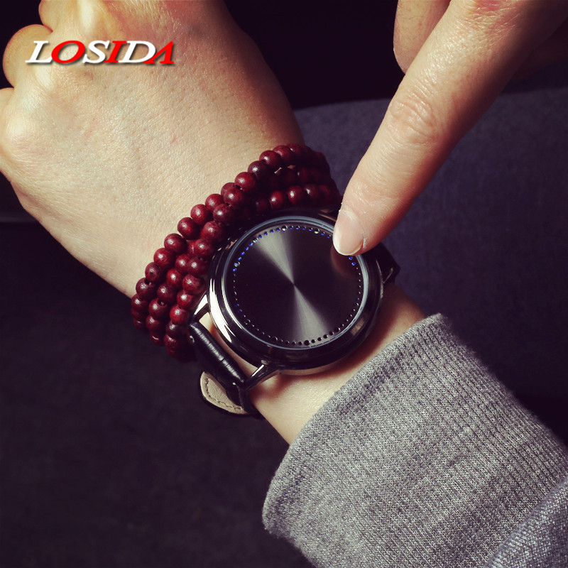Losida Normal Waterproof Minimalist Smart Watch Leather Creative Personality Tree Women Watch Electronics Touch Men LED WatchesLosida Normal Waterproof Minimalist Smart Watch Leather Creative Personality Tree Women Watch Electronics Touch Men LED Watches