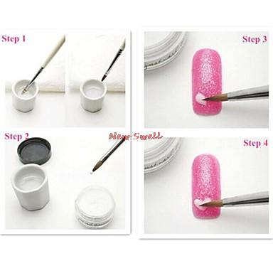 3pcs Random Color Nail Art Sculpting Sculpture Carving Acrylic Powder Nails Flower For Diy 3d Decorations In Powders Liquids From