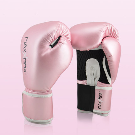 MaxxMMA Women girls professional boxing gloves Muay Thai PU Leather Boxing Gloves Men MMA Gym Training