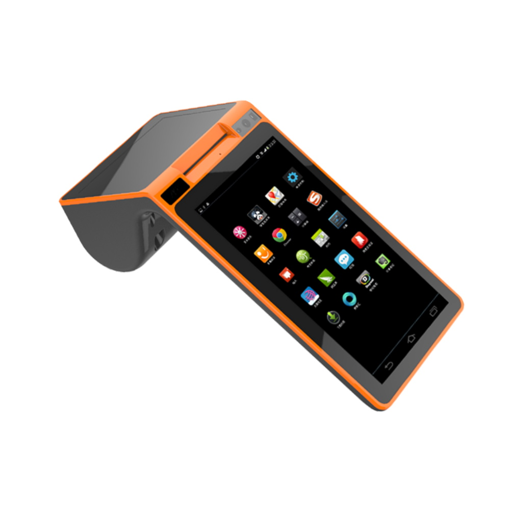 Wireless 7 inch dual screen pos with built in billing printer free SDK