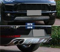 JIOYNG Front + Rear Bumper Lip Diffuser Protector Guard Skid Plate For Porsche Cayenne 2011 2012 2013 2014 2015 / 2016 2017