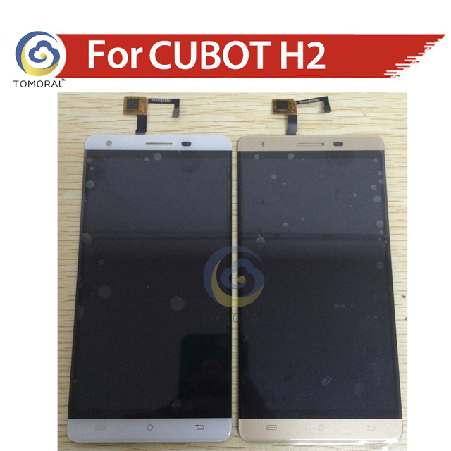 TOMORAL 100% Original in stock gold and white  For CUBOT H2 LCD  Display Touch Screen Digitizer Replacement