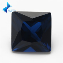Size 3x3mm ~ 10x10mm Vierkante Vorm 114 # Donkerblauw Steen Princess Cut Synthetische Spinel(China)