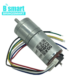 Bringsmart Micro Encoder Motor 12V 18-1930RPM Reversed Speed Control Torque 0.5-8KG.CM Metal Gears For Robot Car Toys JGA25-371