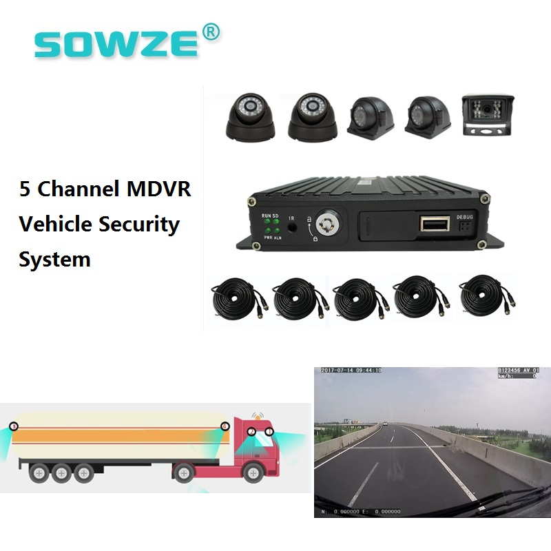 5ch Mobile Dvr Large Dumper Cctv School Bus Security Solution Traffic Management Fire Trucks Bus Tracker And Monitoring System