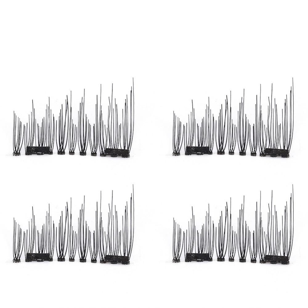 2 пары 3д двойной магнитной накладные ресницы природных ручной толстая магнит многоразовые поддельные ресницы расширение красота макияж инструменты