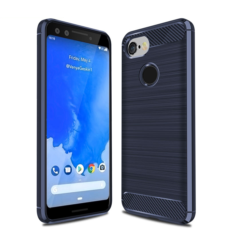 Calderon Carbon Fiber Phone Cases For Google Pixel 3 Case Silicon Rugged Armor Back Cover Google Pixel 3 XL Bags XL3 Shell Skin