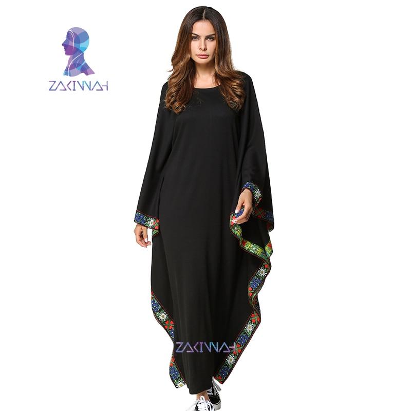 Vestido musulmán vestido de manga larga de murciélago musulmán - Ropa nacional