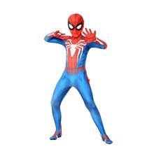 Kinder Marvel Comic Fantasie Superhero Klassische Ps4 Insomniac Spiele Spinne junge Karneval Party Zentai Anzug Halloween Cosplay Kostüm