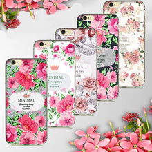 Deluxe Vintage MINIMAL Floral Flower Phone case for fundas iPhone 7 5 5S 6 6s Plus 7 Plus soft silicone cover