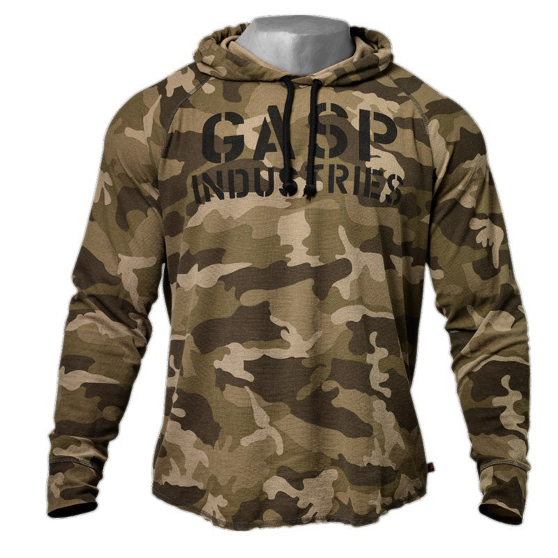 New Spring Autumn Bodybuilding Camouflage Hoodies Men Gyms Sweatshirt Long Sleeve Cotton Hoodie Sportwear Fitness Sweat Homme