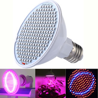 Grow Lights 24W 200 LED Plant Grow Light E27 Red Blue Hydroponic Flower Veg Growing Lamps