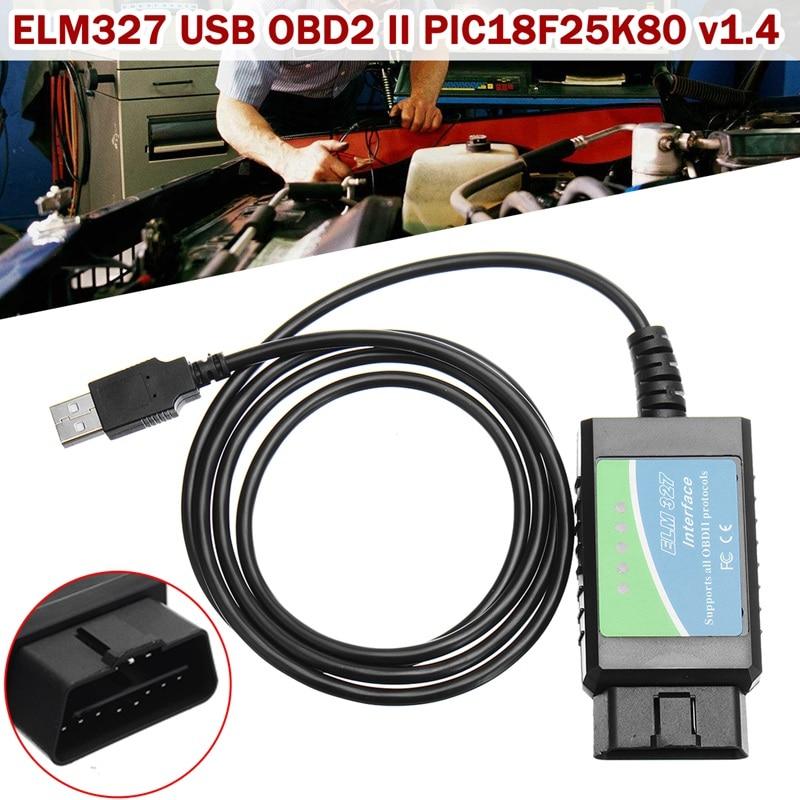 Autoleader 1 Pcs 12 V PIC18F25K80 v1.4 ELM327 USB 2.0/1.1OBD2 Automobile Instrument De Diagnostic Outil De Réparation De Voiture Outils De Diagnostic