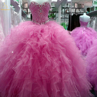 Bealegantom Lilac Mint Green Ball Gown Quinceanera Dresses 2019 Beaded Lace Up For 15 Years Vestidos De 15 Anos QA1419
