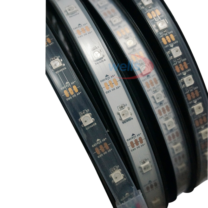WS2812B Smart ledd pixelremsa 30/60/144 ledar / m WS2812 IC SMD 5050 - LED-belysning - Foto 3