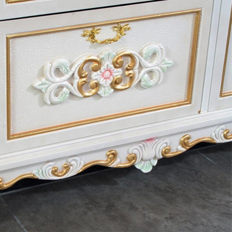 Luxus möbel gold antiken hand carving blattgold schuhschrank in ...