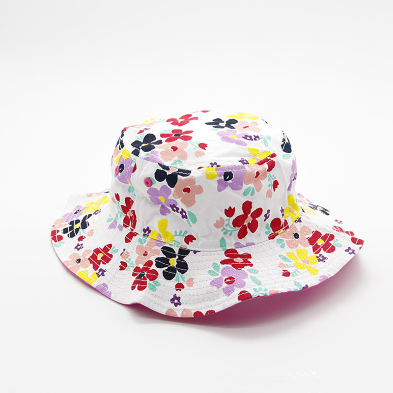 Cute Flowers Childrens Bucket Hats Casual Fishing Hat A Cap for Boy Girl Hip Hop Sport Summer Sun Hats Outdoor Panama Kids Cap