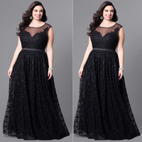 Summer Daily Long Maxi Women Dress Soft Solid Sleeveless Crew Neck Gifts All Match High Waist Splicing Lace Casual Plus Size