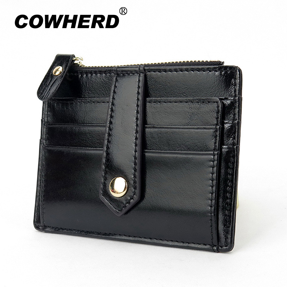ᓂPure Cow Leather Business Name Credit ID Card Holder Pocket ...