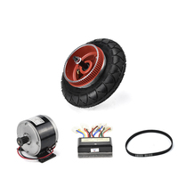 0.5 E Scooter Conversion Kit 24V 300W Brushed DC Motor with Belt Electric bike Motor Controller Rear Teeth Sprocket Wheel