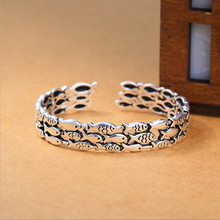 New Atmosphere Fish Retro Exquisite 925 Sterling Silver Jewelry Bracelets Creative Cute Group Thai Bangles