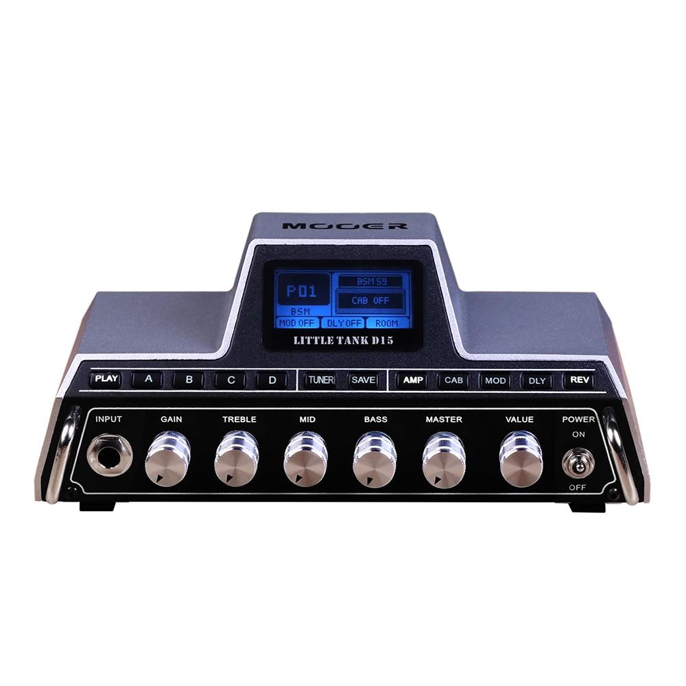 Mooer Little Tank D15 Bluetooth Electric Acoustic Guitar Pedals Head Multi Effects Amplifier цены