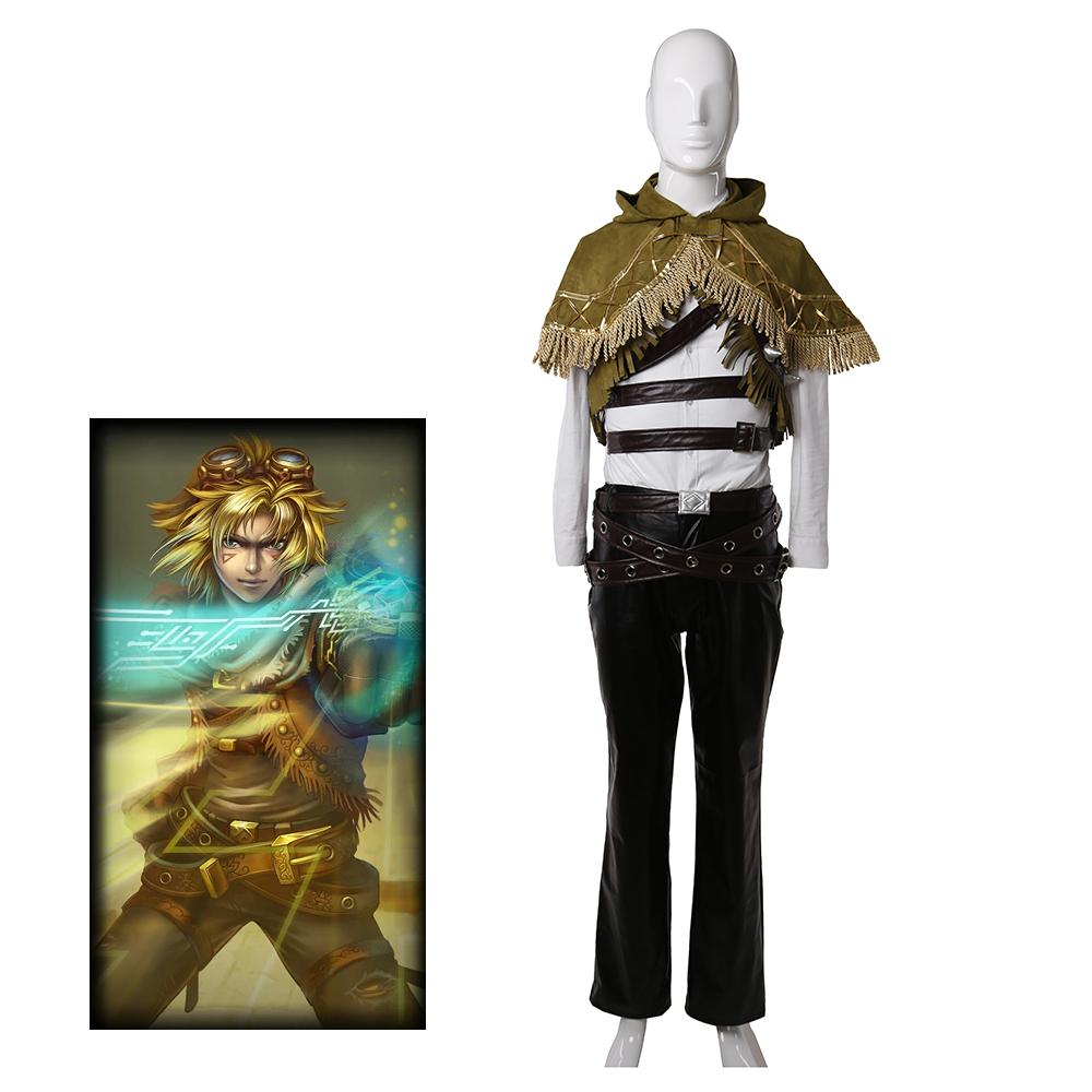 Game LOL Ezreal Original Skin Costume Adult Men Halloween Carnival Cosplay Costume  | UncleHulk